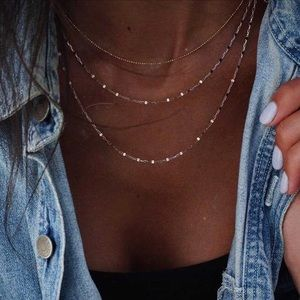 Gold layered necklace🥰